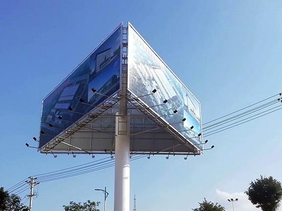 高密单立柱广告牌安装公司--恒科钢构